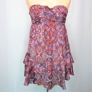 H & M Mini Tube Top Sleeveless Sun Dress Paisley